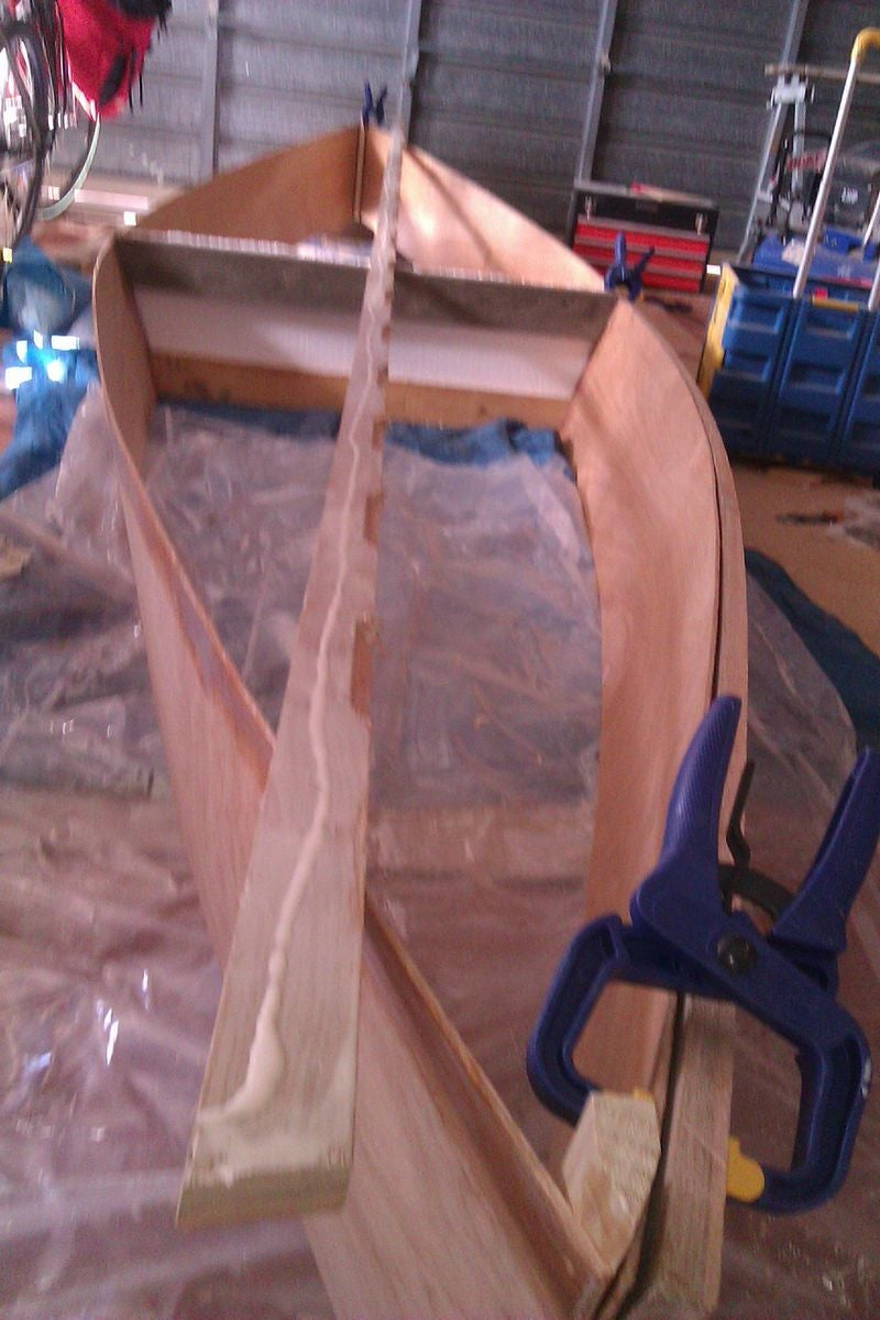 Add the Gunwales (strips of Wood Along Top)