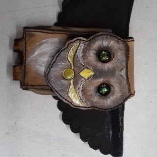 Leather Owl Phone Holster