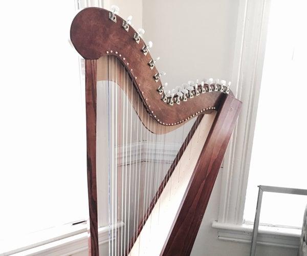 Building a 35 String Paraguayan Harp