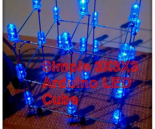 Simple 3x3x3 LED Cube With Arduino