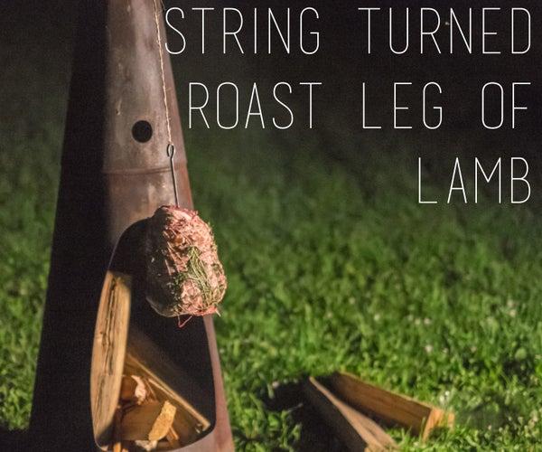 STRING TURNED ROAST LEG OF LAMB