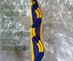 How to Make a Two Colour Peruvian Wave Bracelet