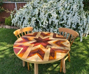 Upcycled Table Into Barn Quilt Table