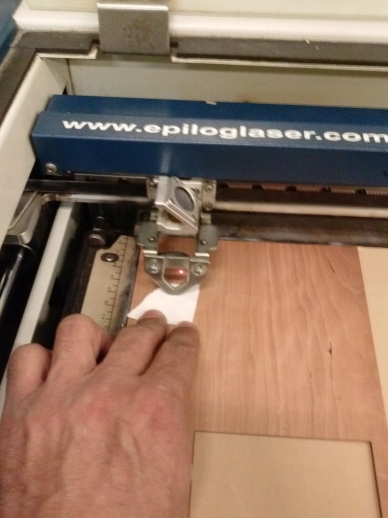 Step 4 - Setup the Laser Cutter for Your Material (wood Veneer)