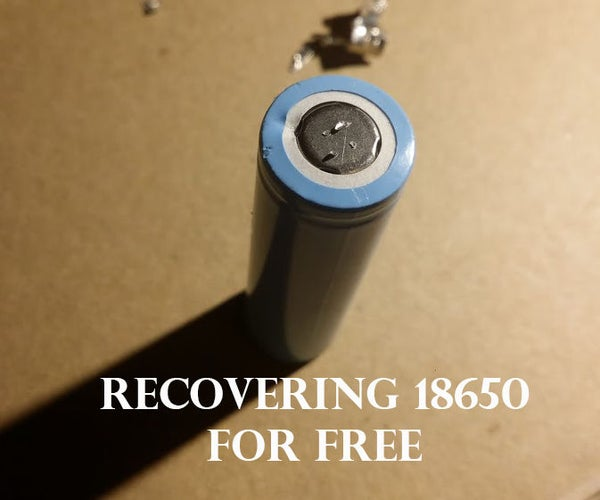Recovering 18650 Lithium Batteries With Only a Paperclip