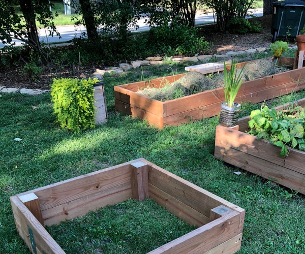 Raised Garden Bed Made From Wood