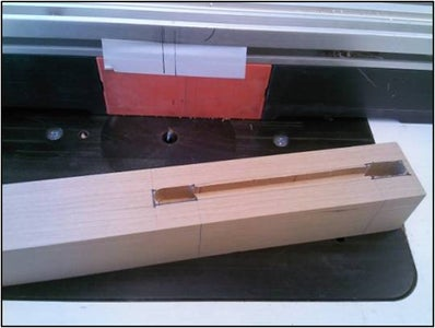 Cut Groove in Leg for Side Panels