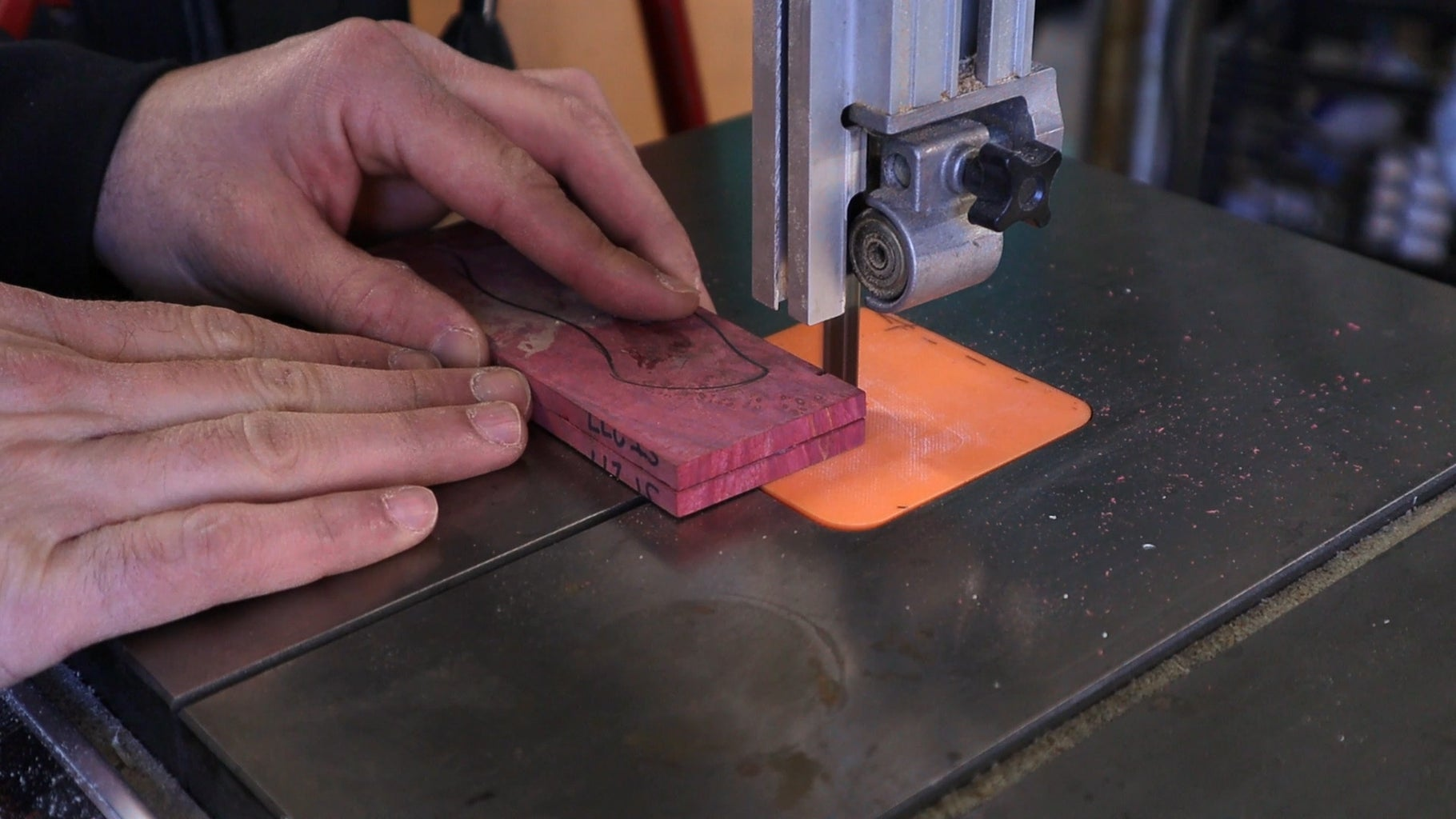 Rough Cutting the Handle Pieces