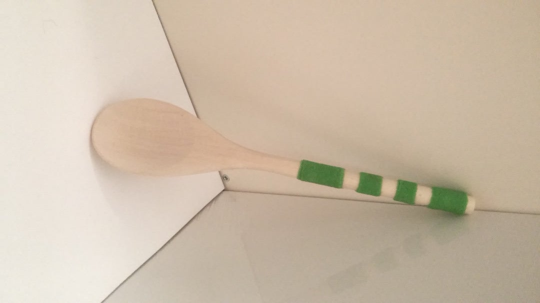 Fabric Accented Wooden Spoon