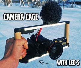 Camera Cage With LEDs