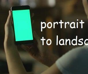 How to Convert Portrait Video to Landscape?