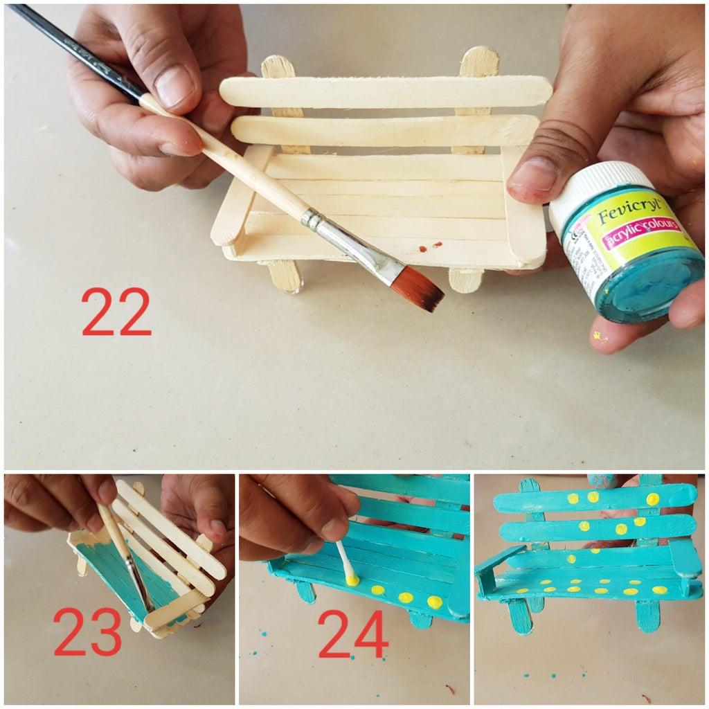 Making of Bench Using Poppy Sticks