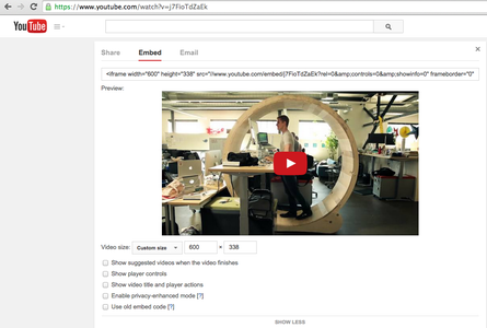 Go to Your Video, Get Embed Code