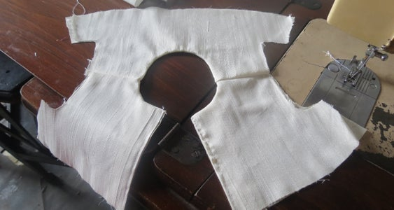 Sewing the Shoulder..
