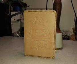 Stamped Leather Notebook Cover
