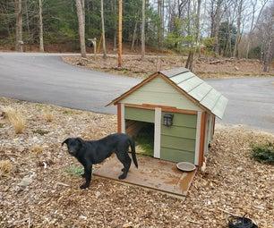 从家里建造简易狗屋