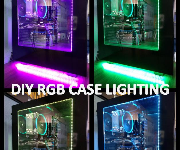 DIY RGB MAGNETIC PC CASE LIGHTING