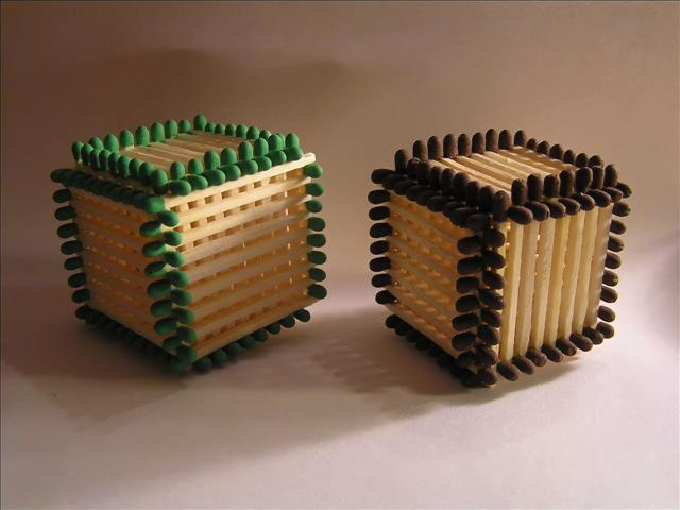 Matchsticks Cube (no glue)