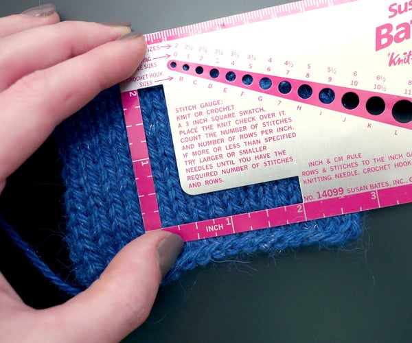 Knitting Pattern Abbreviations and Gauge