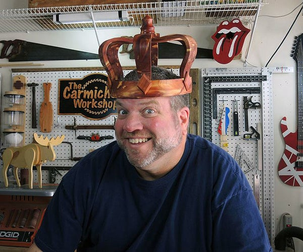 Make a Wooden Crown From a Log