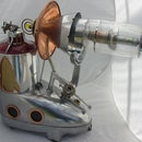 fantastic Animated Ray Gun made from FOUND OBJECTS