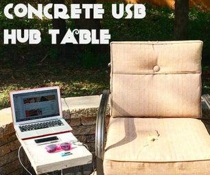 Concrete USB Hub Table