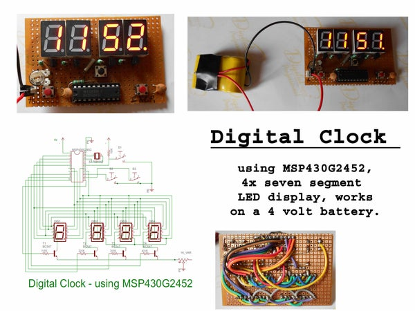 Digital Clock Using MSP430