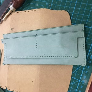 Sew the Card Slot On, Only Sew the Botton Stitching Line on Card Slot.