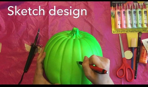 Sketch Jack O Lantern Design