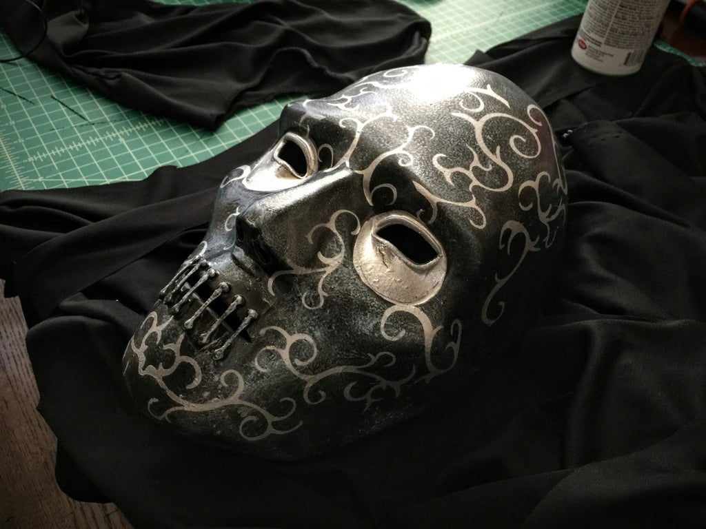 Death Eater Cosplay With 3d Printed Details 8 Steps With