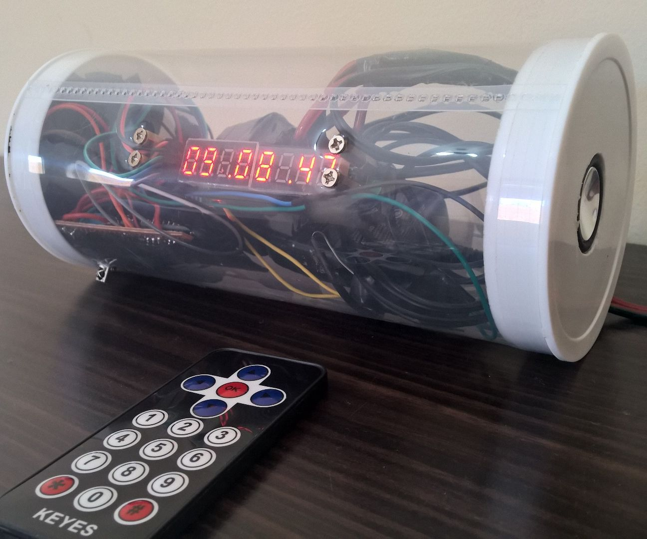 Alarm Clock with Infrared and Bluetooth Speakers