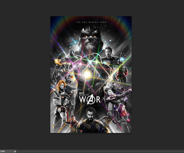 Avengers Infinity Wars... Photoshop