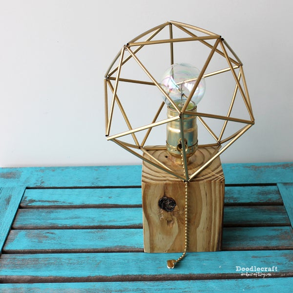 Reclaimed Wood Lamp With Himmeli Shade!