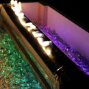 Fire Pit With Sound Reactive Flame, Bluetooth Speaker, and Animated LEDs