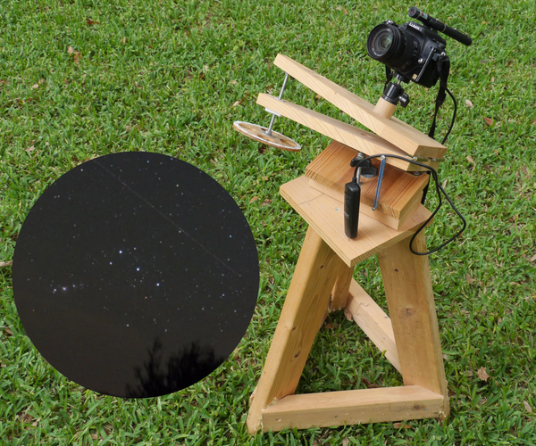 Simple Manual Star Tracker for Astrophotography
