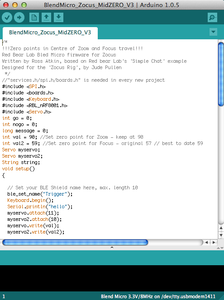 SECTION F: Arduino Code for Blend Micro