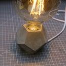 Dodecahedron Concrete Lamp