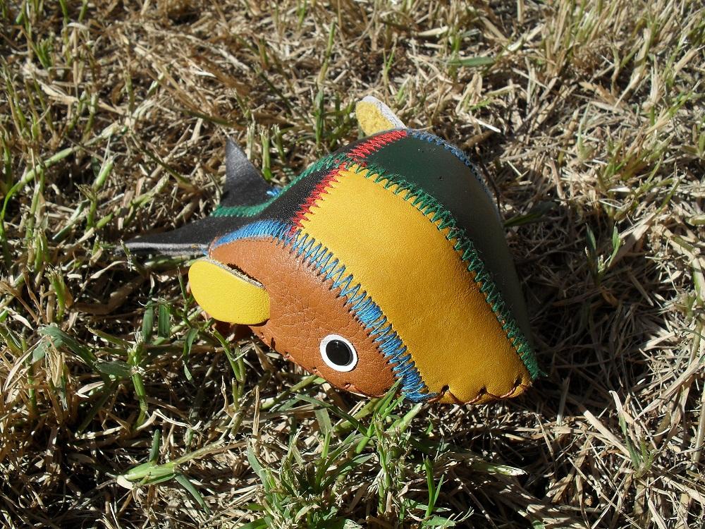 Plush Leather Fish