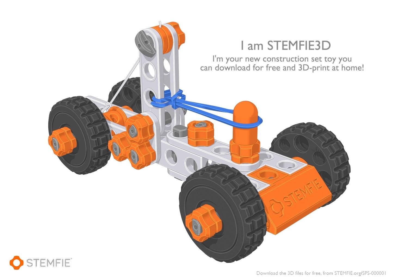 STEMFIE Rubber-Band-Driven Car