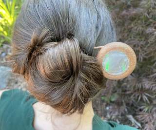 Infinity Mirror Electoplated Hair Stick