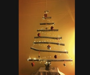 Sustainable Eco-Friendly Hanging Hipster X-mas Tree