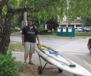 PVC trailer for windsurf