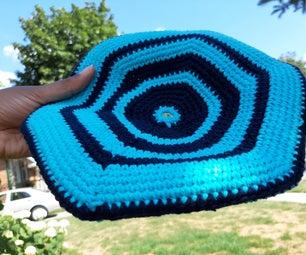 Crocheted Flying Fibonacci Saucer