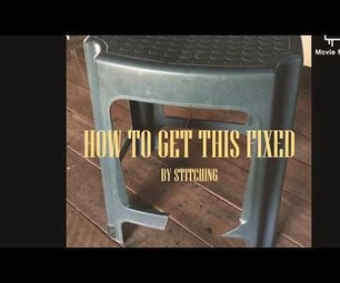 Stitch a Plastic Stool