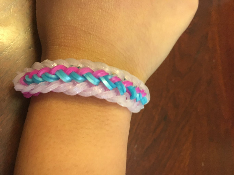 Rainbow Loom Brush Strokes Bracelet