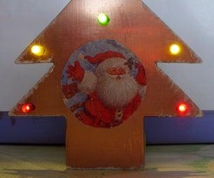 LED ANIMATED CHRISTMAS TREE WITH  CARD MUSIC MODULE-sapin De Noël Musical