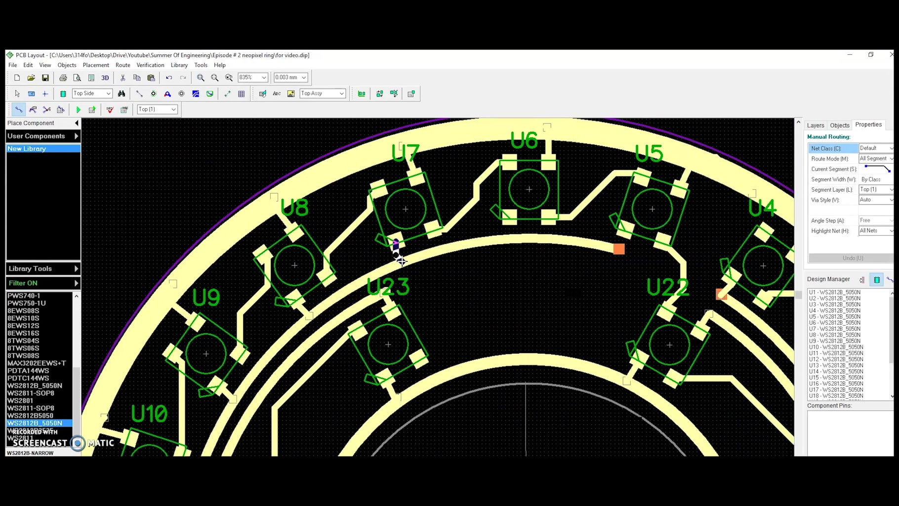 PCB Design Part Two! Routing and Capacitors