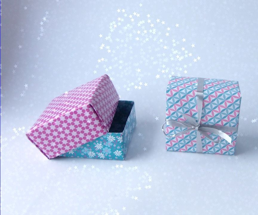 Making a gift box (easy and fast)