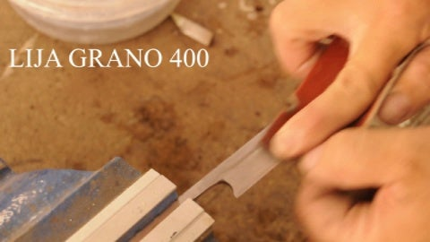 We Use Now a Sandpaper Number 400 and We Sand Down.
