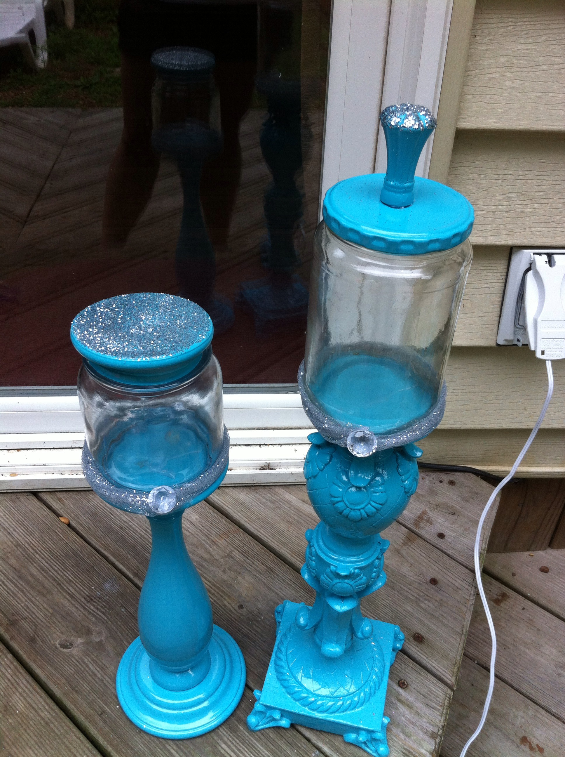 How To Turn Candle Pillars Into Candy Jars